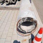 Rückgebauter Mast