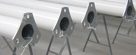 Mastbau: GFK Poles industrial process