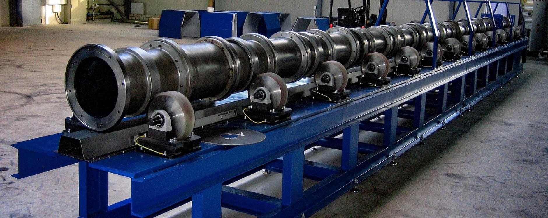 Wir liefern Schleuderbänke zur Herstellung von GFK-Masten
